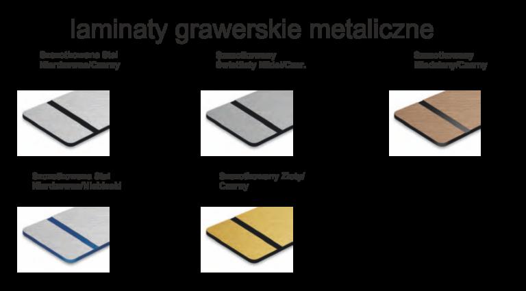 laminaty metaliczne UV 768x425 - Grawerowanie Poznań